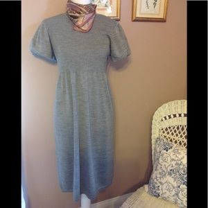 Calvin Klein gray knit dress.